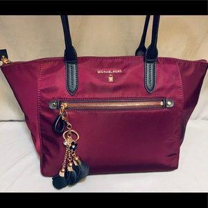 Michael Kors Large Burgundy Tote Shoulder Bag